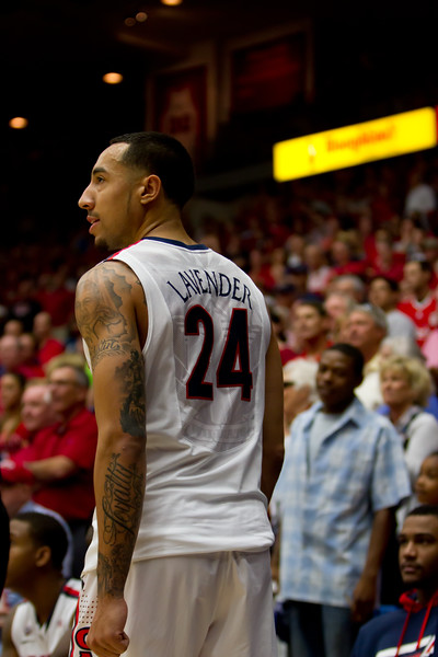 Brendon Lavender (24). Arizona vs Utah basketball 11Feb2012