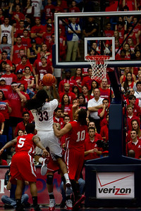Jesse Perry (33). Arizona vs Utah basketball 11Feb2012