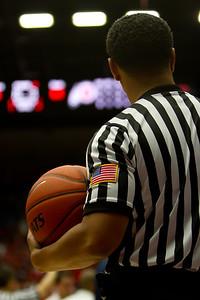 Referee. Arizona vs Utah basketball 11Feb2012