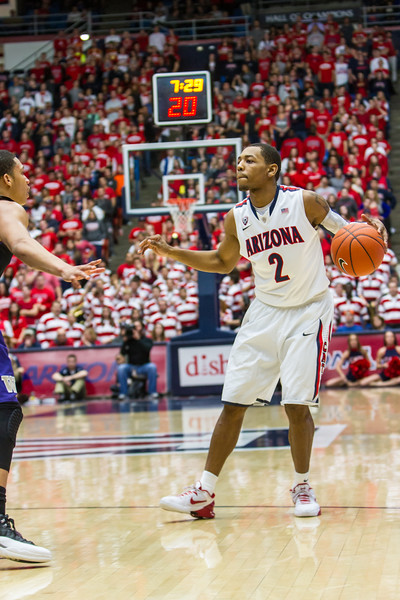 Mark Lyons (2). Arizona vs Washington basketball 20Feb2013