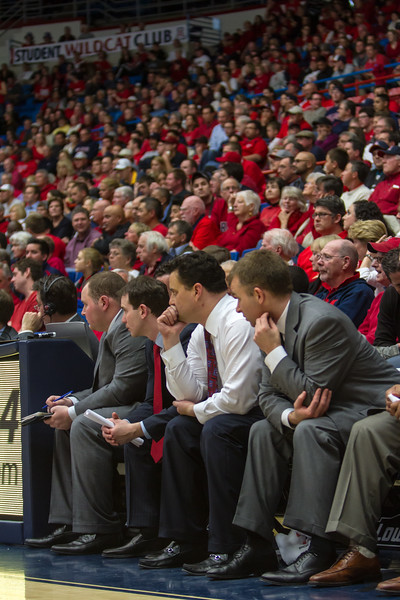 Sean Miller. Arizona vs Washington basketball 20Feb2013
