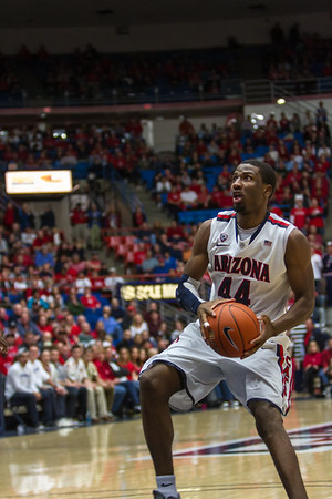 Salomon Hill (44). Arizona vs Washington basketball 20Feb2013