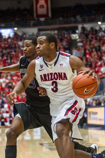 Kevin Parrom (3). Arizona vs Washington basketball 20Feb2013