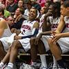 Mark Lyons (2), Salomon Hill (44), Angelo Chol (30), Brandon Ashley (21). Arizona vs Washington basketball 20Feb2013