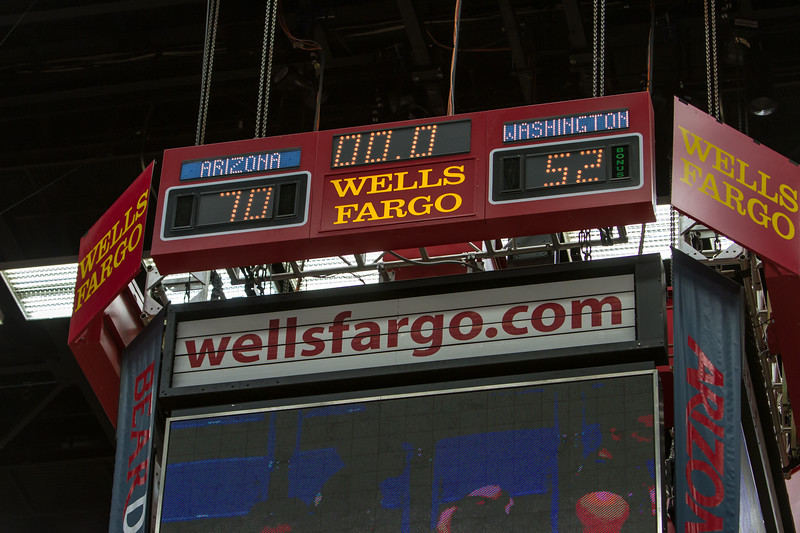 Final Score. Arizona vs Washington basketball 20Feb2013