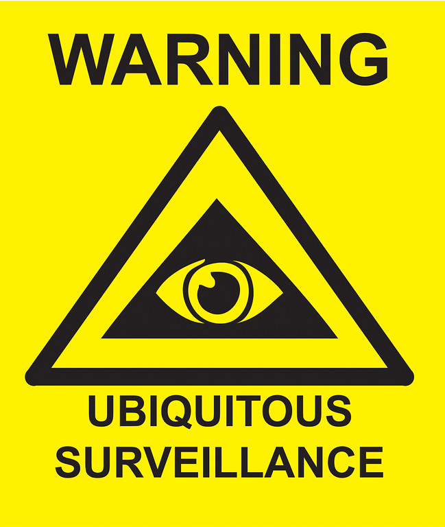 Warning Ubiquitous Surveillance for my driveway.