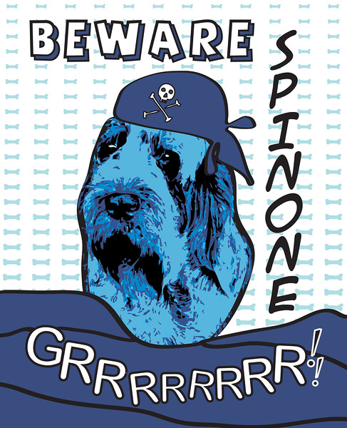 Beware Spinone GRRRRRRRR! A play on a Roy Lichtenstein poster.