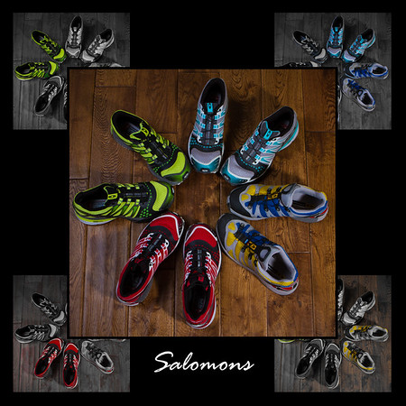 My collection of Salomon trail running shoes