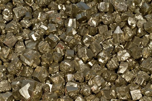 pyrite. Gem & Mineral Show, Tucson, Arizona USA