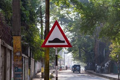 hump in road sign. Guwahati, Assam India