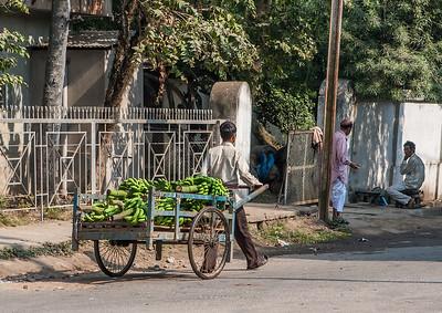 banana cart. Guwahati, Assam India