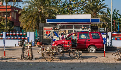 gas station. Guwahati, Assam India