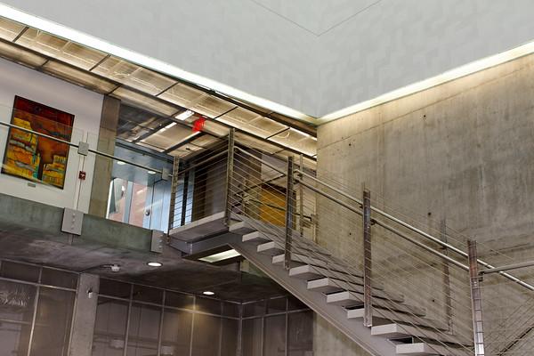 Lobby, College of Optical Sciences Meinel Building West Wing. The University of Arizona, Tucson, Arizona USA
