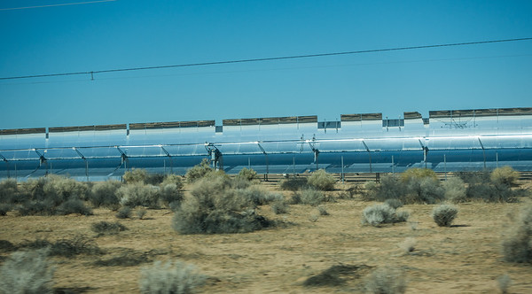 parabolic mirror Solar Energy Generating System, Kramer Junction, San Bernadino Co. California USA