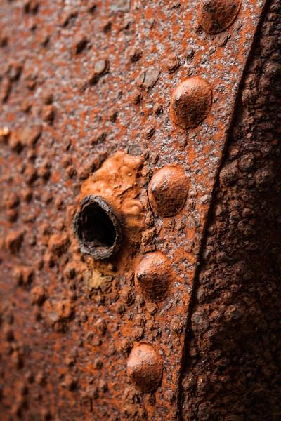 rusty tank. Cross Sound, George Island Alaska USA