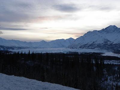A closer view of the Matanuska Glacier.