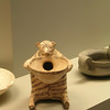 Cute terracotta hedgehog burner - for oil & incense etc - Cycladic island source. The Athens Archaeological Museum