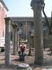 Tanya amongst some Corinthian pillars - outside the museum