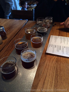 Then we stopped at 10 Barrel for lunch and a split sampler. Nice beers, great food.