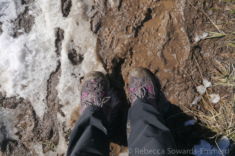 Soooo muddy. Happy for my goretex hikers.