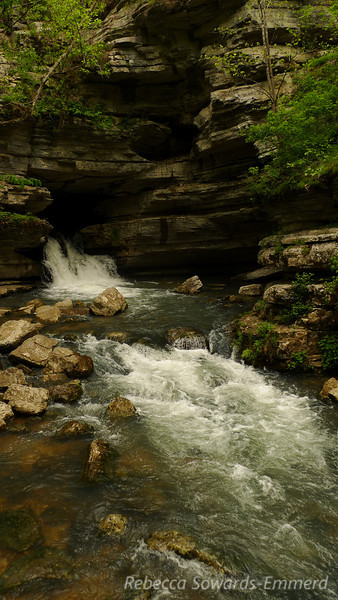 Blanchard Spring. Technically you can access the caverns from that opening but it would involve swimming upstream through a long distance of rushing water in scuba gear (no air). So no, I won't try.