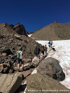 The group turns towards No Name Lake
