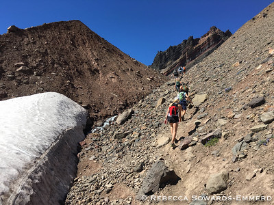 You pass through a little notch on the Crater rim and…