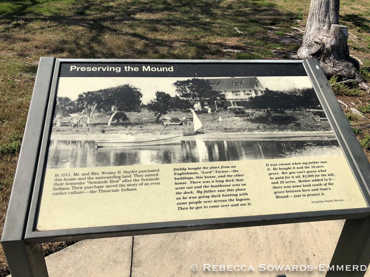 Canaveral National Seashore: Seminole Rest History