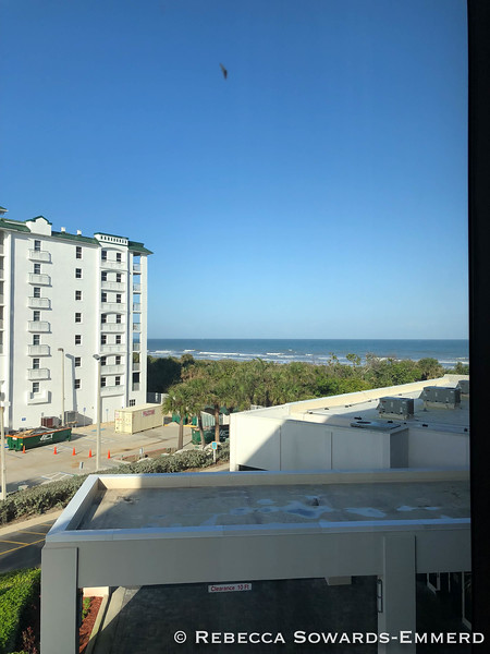 Checked into my room at Cocoa Beach Hilton. Not a bad view.