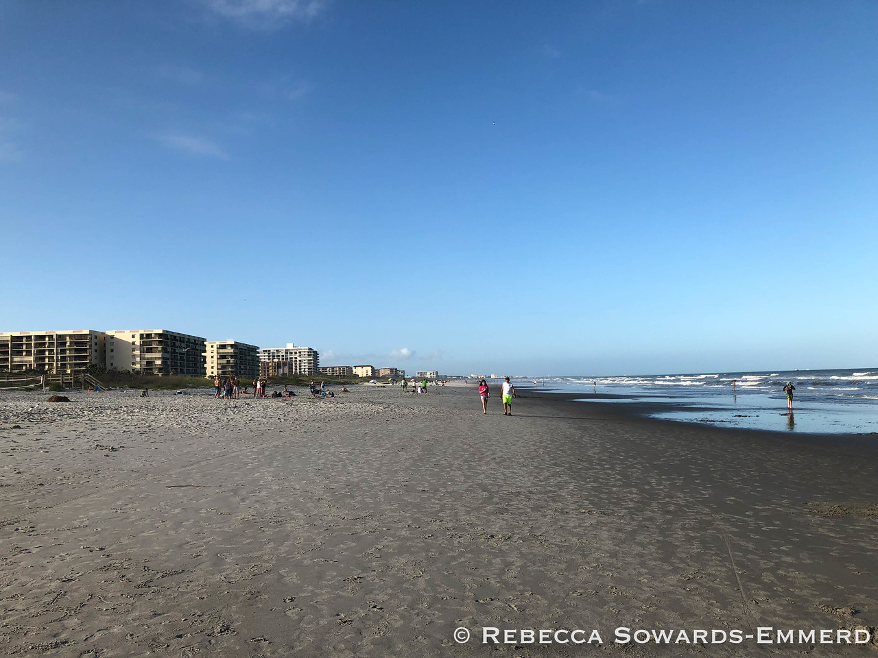 Looking north along cocoa beach
