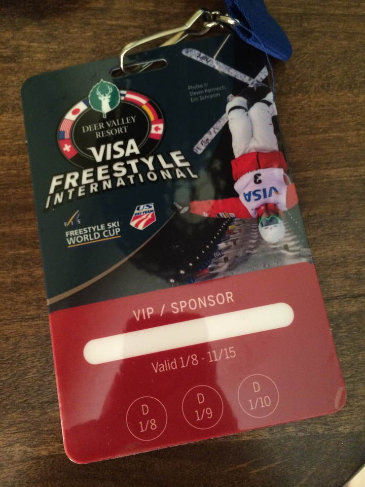 My pass for everything this weekend: skiing, VIP tent, events.