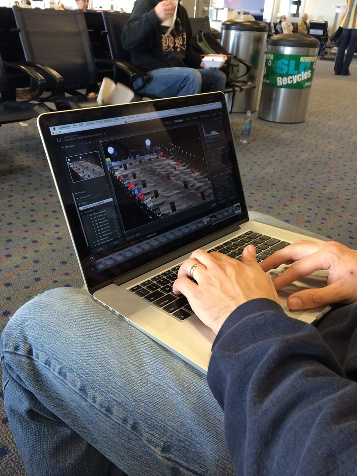 David got some awesome shots of the skiers, it was fun going through them in the airport while we waited for our flight on Sunday afternoon.