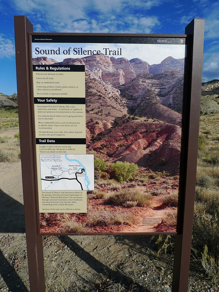 After exploring the glyphs we wanted to see some of the geology of the area  so we hiked the short (~3 mi) Sounds of Silence trail.