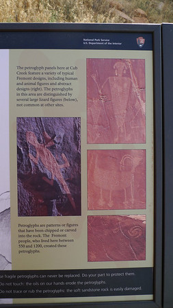 Information about the petroglyphs in the area.