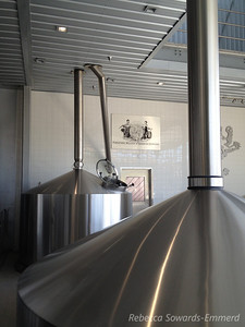 The wet mill at the new brewing facility.