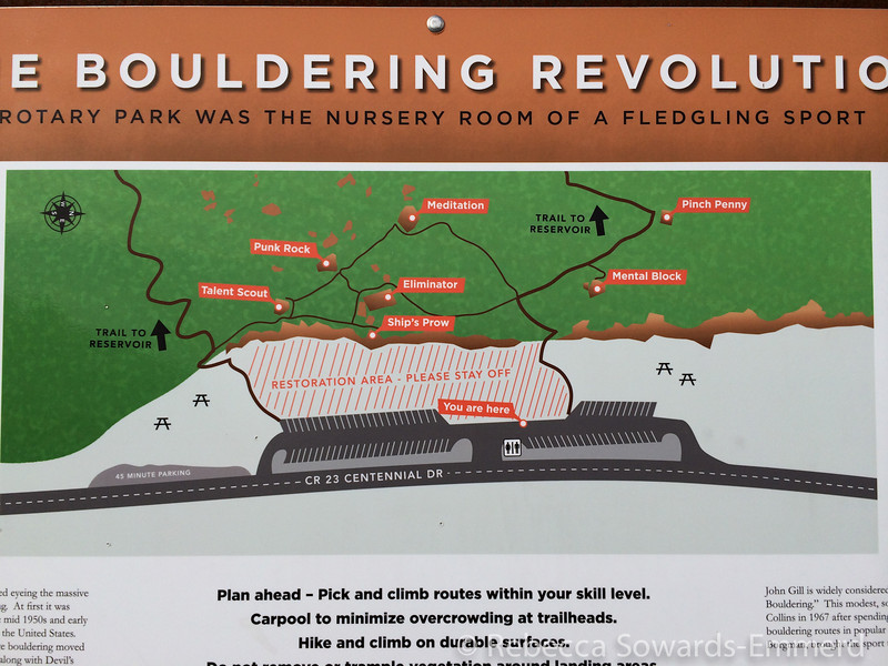 """Rotary Park, the """"nursery room"""" of bouldering back in the 60s. Cool rocks to explore!"""