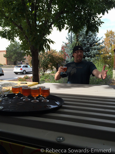 Finally on the tour. This was Dan, our fantastic tour guide. The best part? They make sure you're never dry. Samples are provided through the whole tour. We started off here with their pumpkin ale.