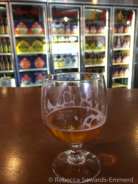 We arrived early so enjoyed a few tasters at the bar. This is a Cigar City collaboration beer that was quite nice.