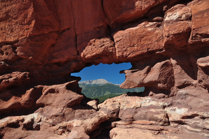Pike's Peak framed