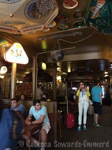 Inside the Delirium Cafe.