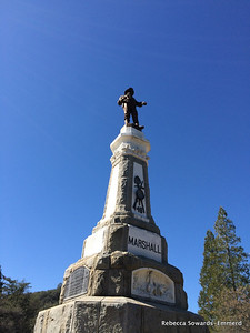 Memorial to James Marshall, discoverer of the first gold nugget that started the mass migration to California.