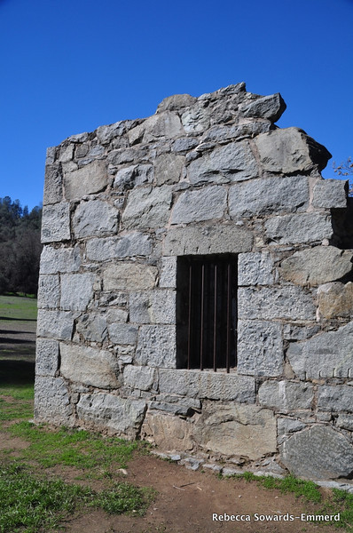 The old jailhouse in Coloma.
