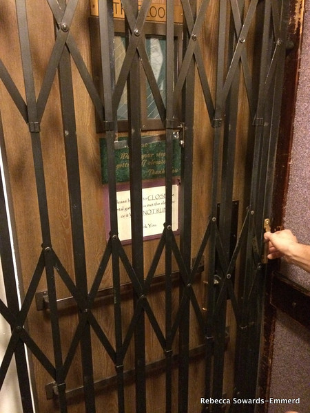 The old elevator in the Cary House hotel in Placerville.