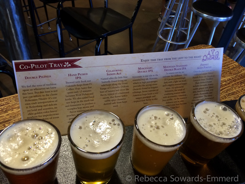 We got into Fort Collins late afternoon and stopped by Odells for a sampler. Yum!