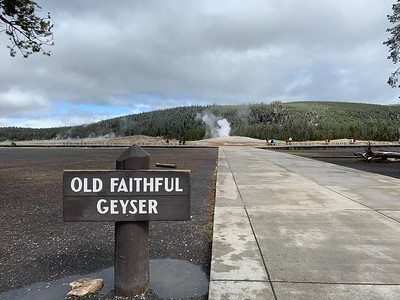 Stopped by Old Faithful for the eruption