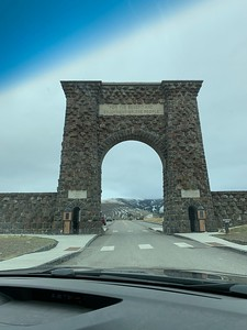 Roosevelt Arch at the north entrance of Yellowstone