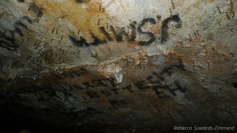 Some original cave graffiti from the early part of the century.