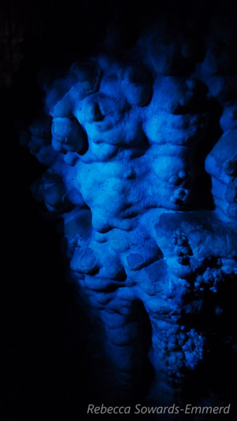 Cave formation in UV light (david had his UV flashlight along)