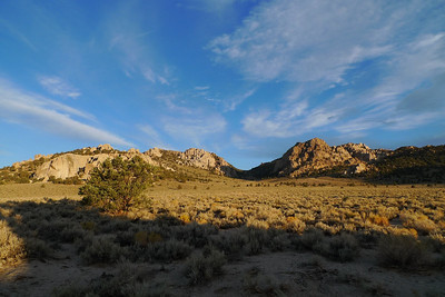 After driving out 120 on Friday night we awoke to a lovely view from our campsite between Mono Lake and Benton.