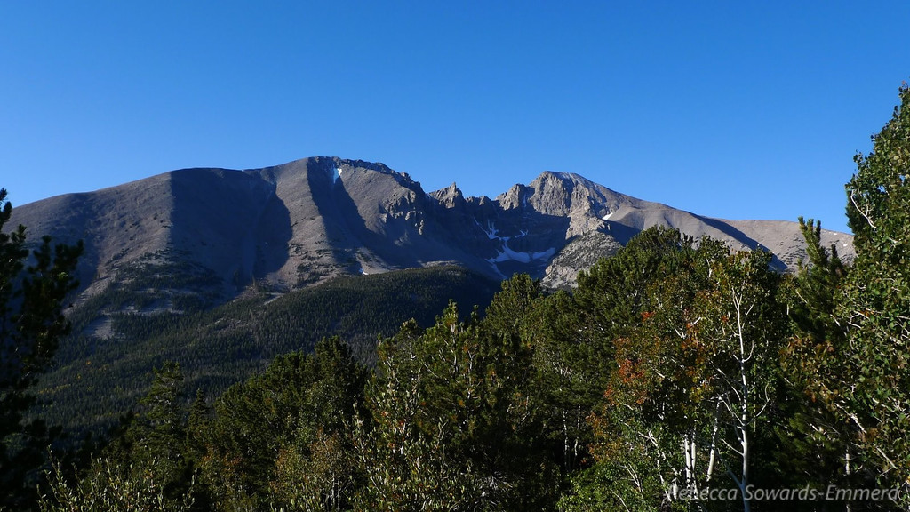 View of wheeler Peak the next morning.